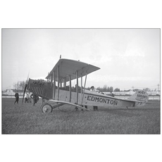 Vivid Print Airplane and Pilot 1919 Postcard