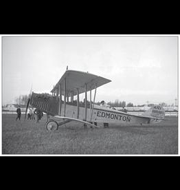Vivid Print Airplane and Pilot 1919 Postcard