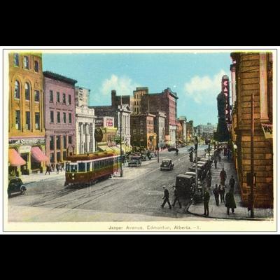 Vivid Print Jasper Avenue Postcard