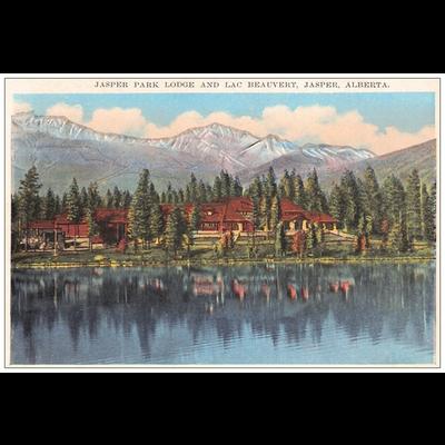 Vivid Print JPL/Lac Beauvert Postcard