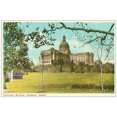 Vivid Print Parliament Buildings Postcard