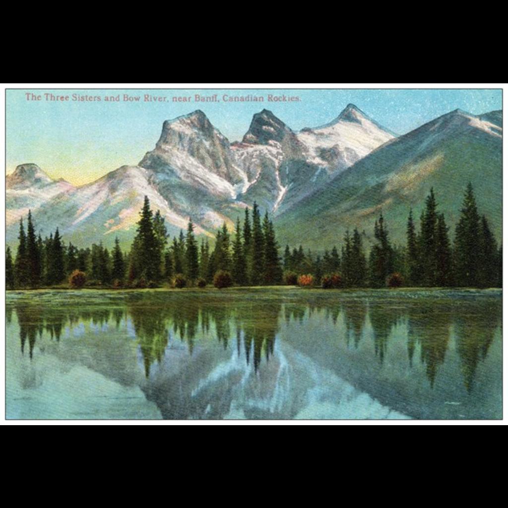 Vivid Print Three Sisters Postcard
