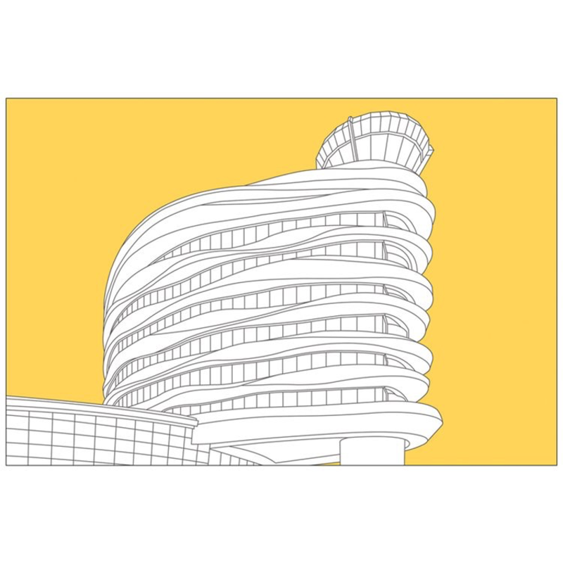 Vivid Print EIA Tower Postcard