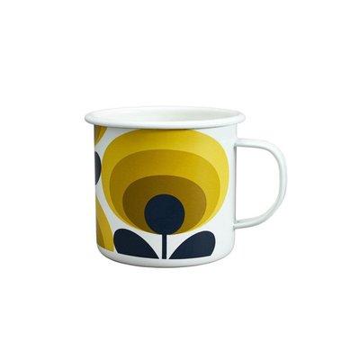 Wild & Wolf Enamel Mug 70s Flower Oval Dandelion 500ml