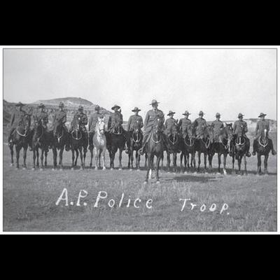 Vivid Print Alberta Provincial Police Troop 1921 Postcard