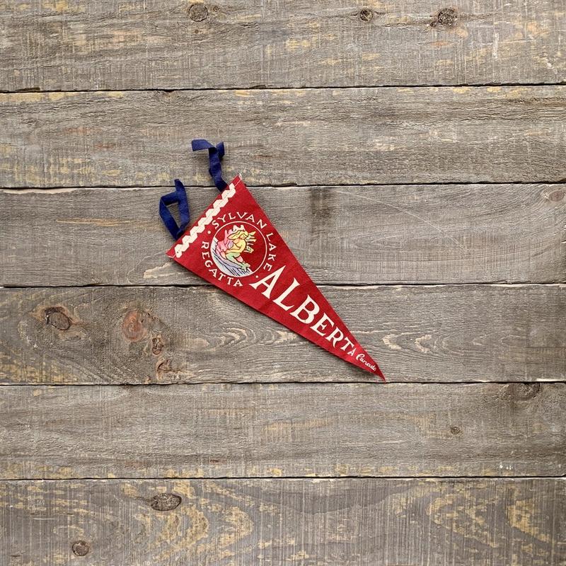 Vivid Vintage Vintage Sylvan Lake Pennant Red