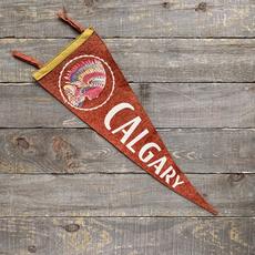 Vivid Vintage Vintage Calgary Pennant Red