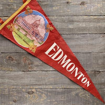 Vivid Vintage Vintage Edmonton Pennant Red
