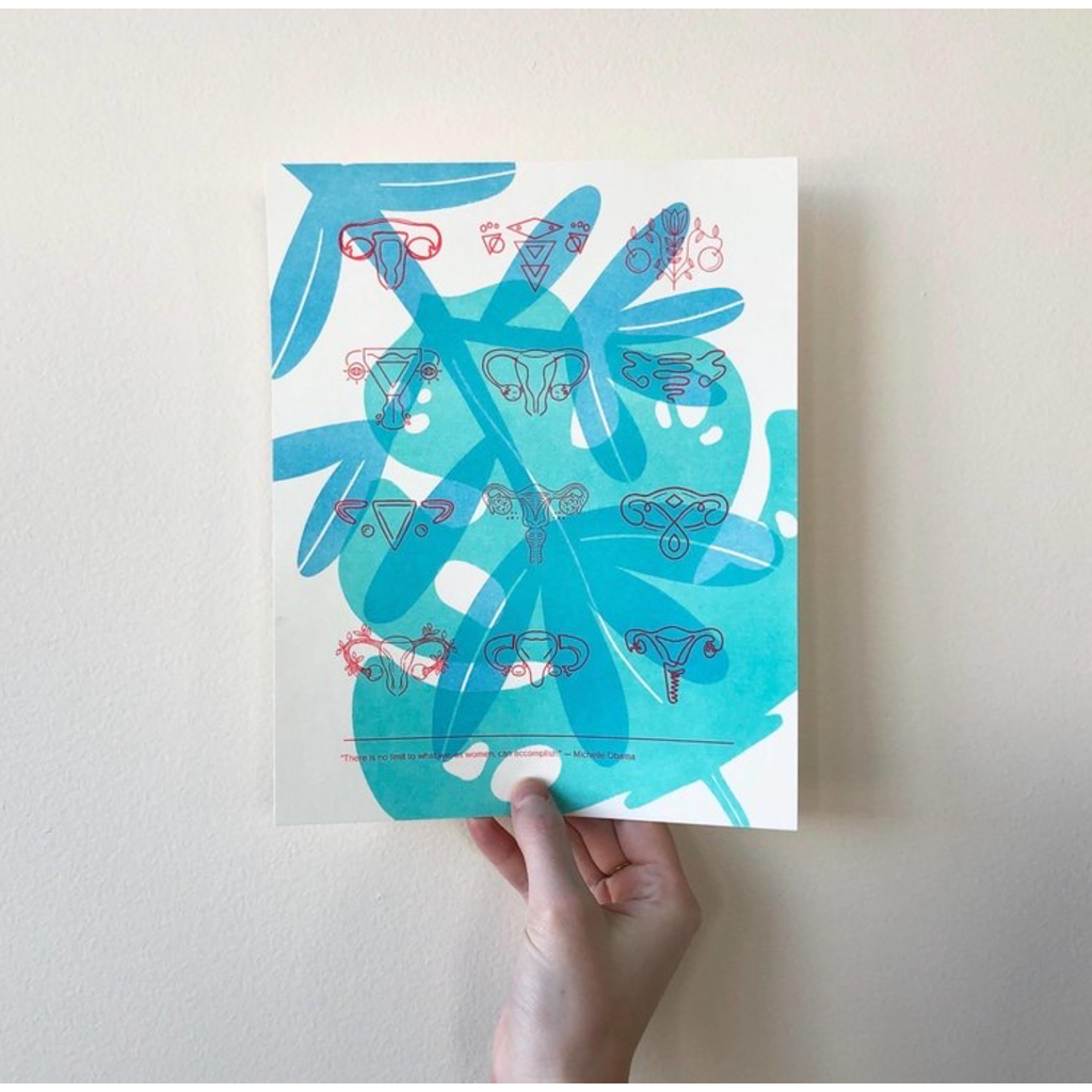 Vivid Print This Might Work | Ovaries