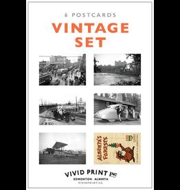 Vivid Print Vintage Postcard Set