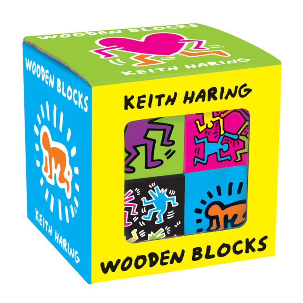 Galison Mudpuppy Keith Haring Wooden Blocks