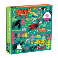 Galison Mudpuppy Rainforest Animals 500 Piece Family Puzzle