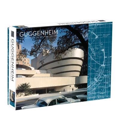 Galison Mudpuppy Frank Lloyd Wright Guggenheim 2-Sided 500 Piece Puzzle