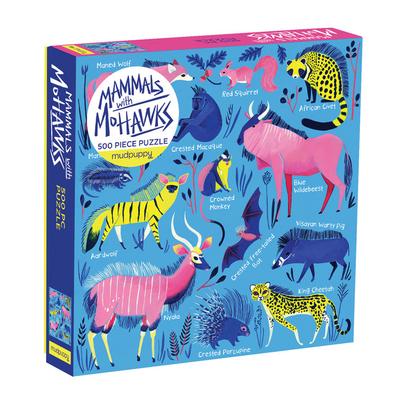 Galison Mudpuppy Mammals with Mohawks 500pc Family Puzzle