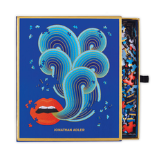 Galison Mudpuppy Jonathan Adler 750 Piece Lips Shaped Puzzle
