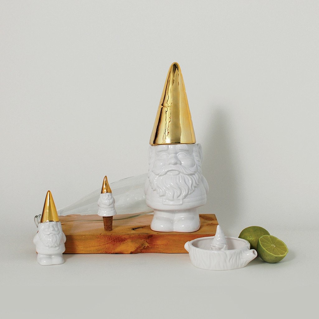 Imm The Little Helpers Gnome Wine Stopper – Gold