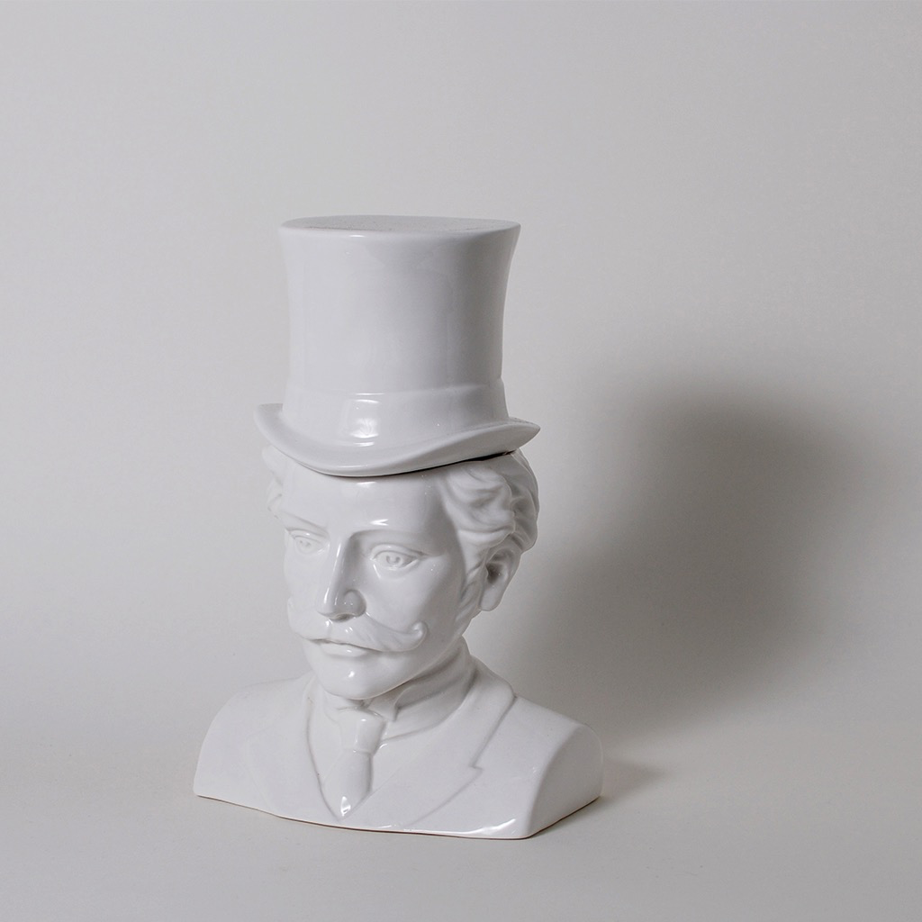 Imm The Socialites Male Victorian Bust Ceramic Canister