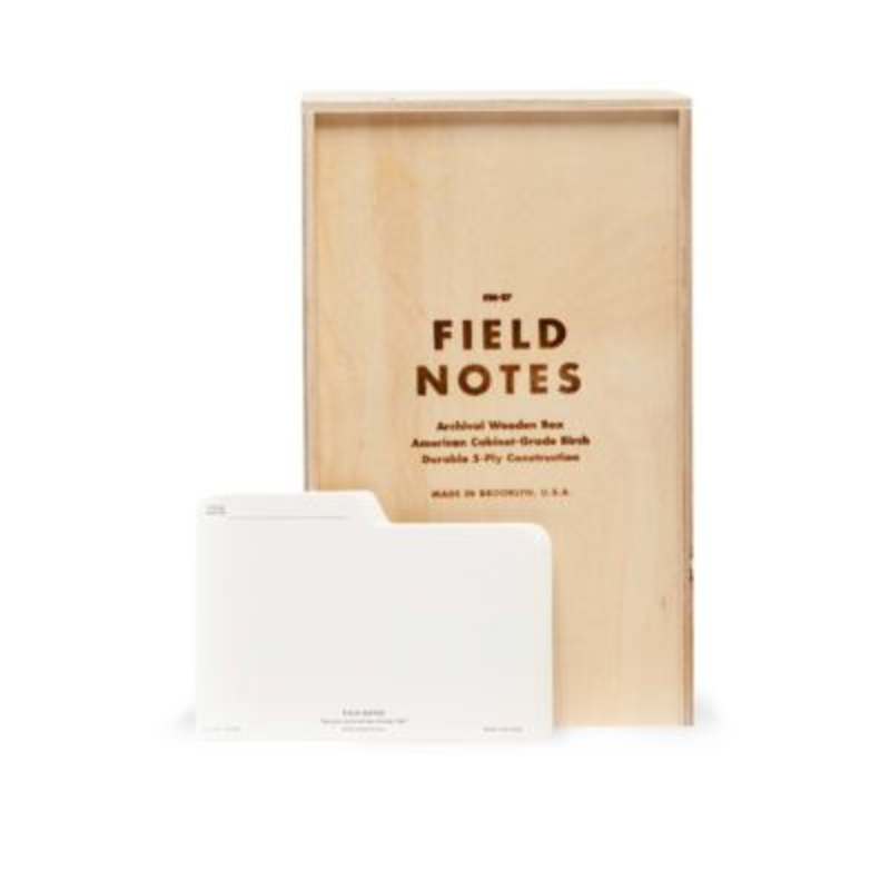 Field Notes Field Notes Archival Wooden Box