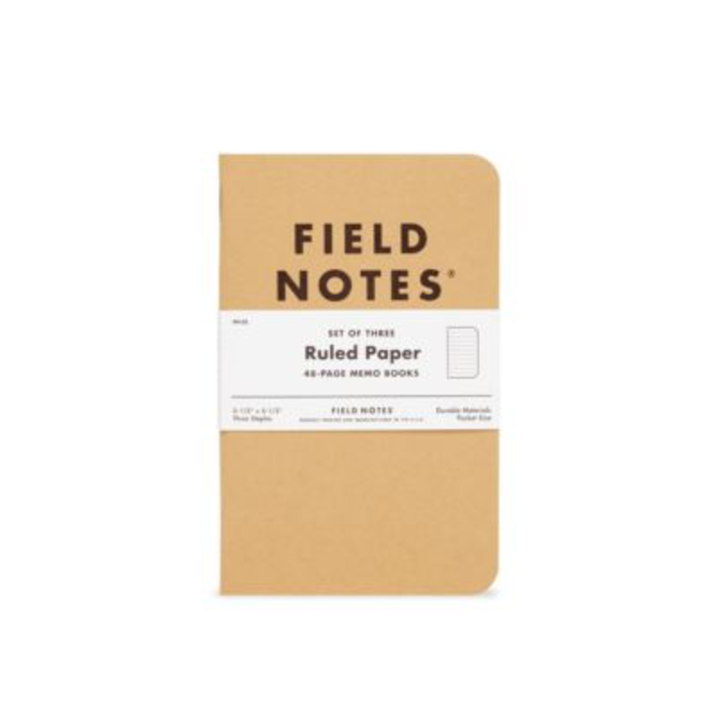 Field Notes Field Notes Ruled 3 Pack