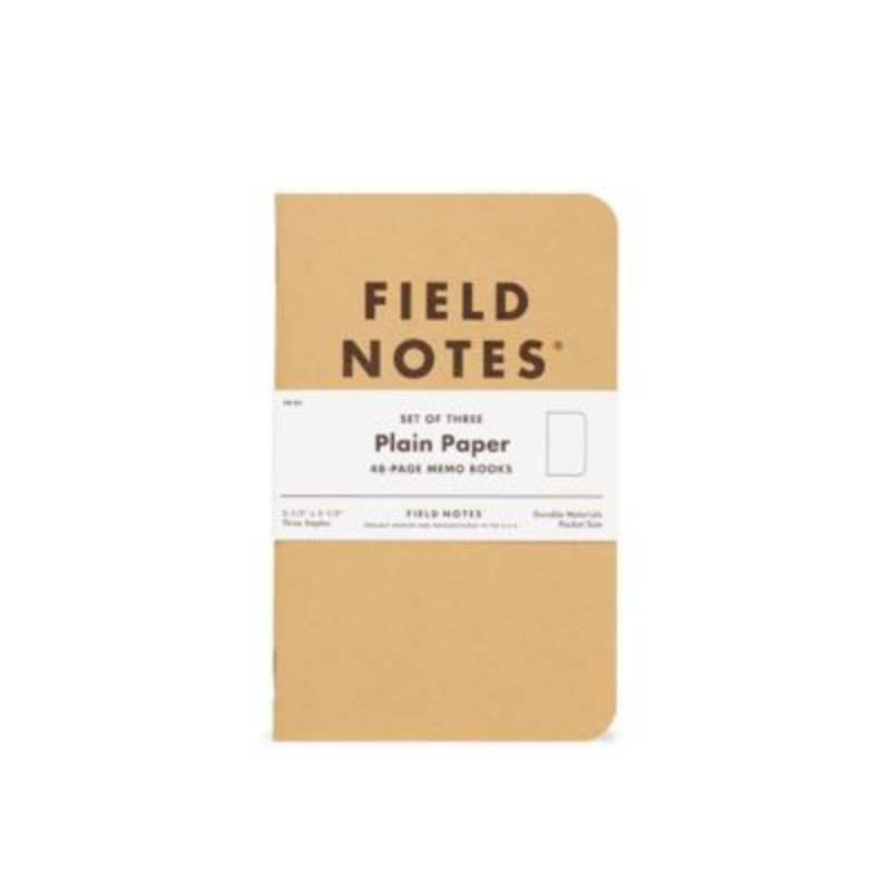 Field Notes Field Notes Plain 3 Pack
