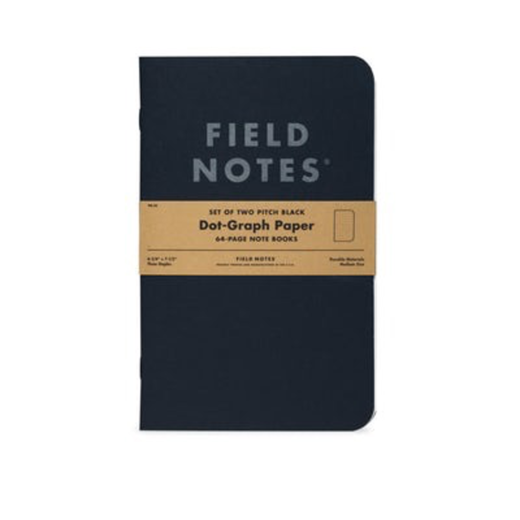 Field Notes Field Notes Pitch Black Note Book Dot Graph