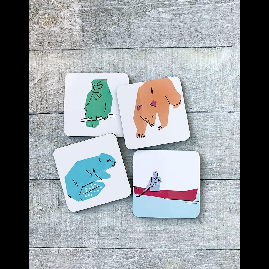 Vivid Print Parks Alberta Coaster Set