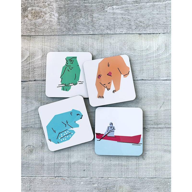 Vivid Print Canadian Parks Coaster Set
