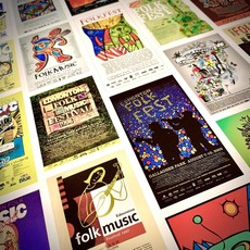 Vivid Print Edmonton Folk Music Festival 40th Anniversary Poster