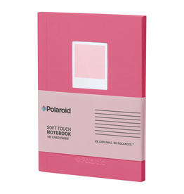 Wild & Wolf Polaroid Soft Touch Small Notebook Pink