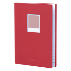 Wild & Wolf Polaroid Soft Touch Small Notebook Red