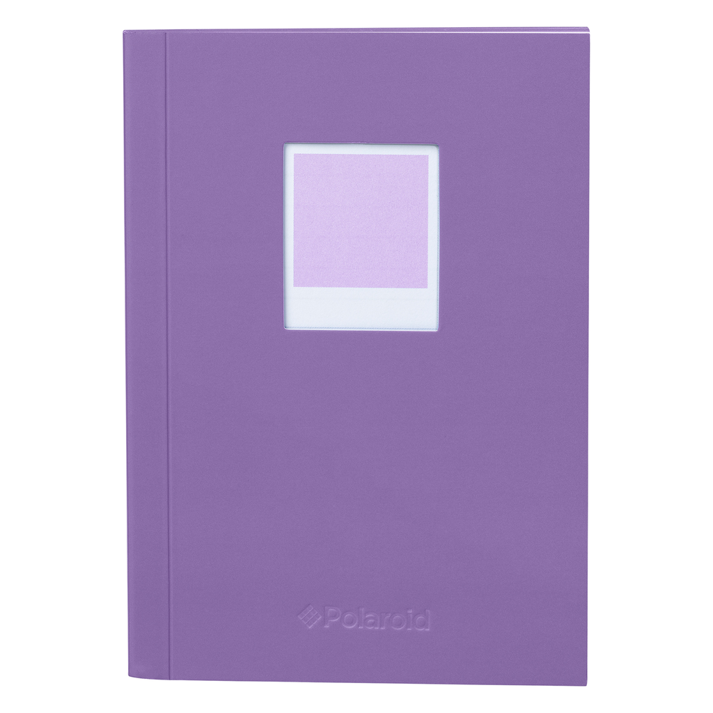 Wild & Wolf Polaroid Soft Touch Small Notebook Purple