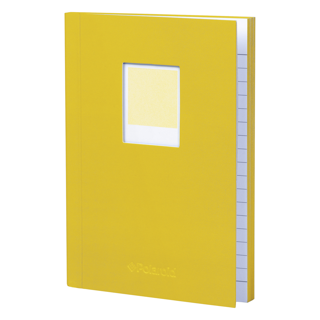 Wild & Wolf Polaroid Soft Touch Small Notebook Yellow