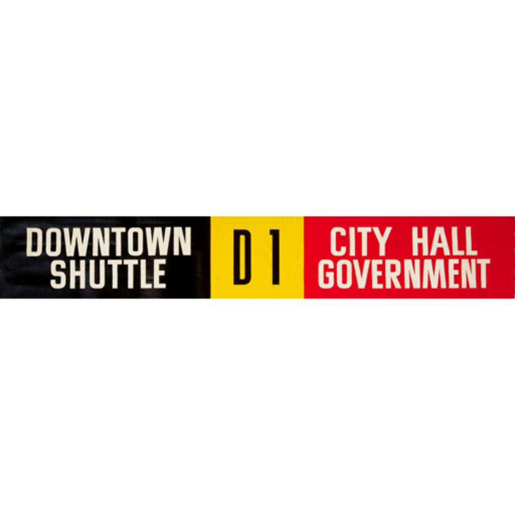 Vivid Print ETS Single Destination | Downtown Shuttle / City Hall Government