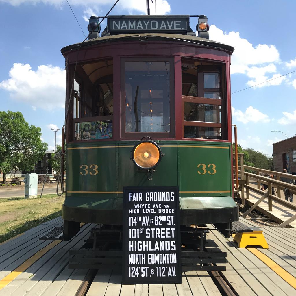 Vivid Print Edmonton Radial Railway Destination Fair Grounds