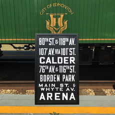 Vivid Print Edmonton Radial Railway Destination 80th Street