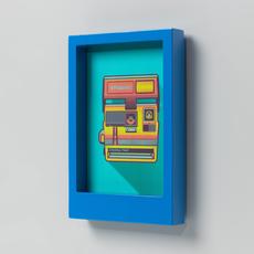Wild & Wolf Polaroid Desk Frame 5X7 - Blue