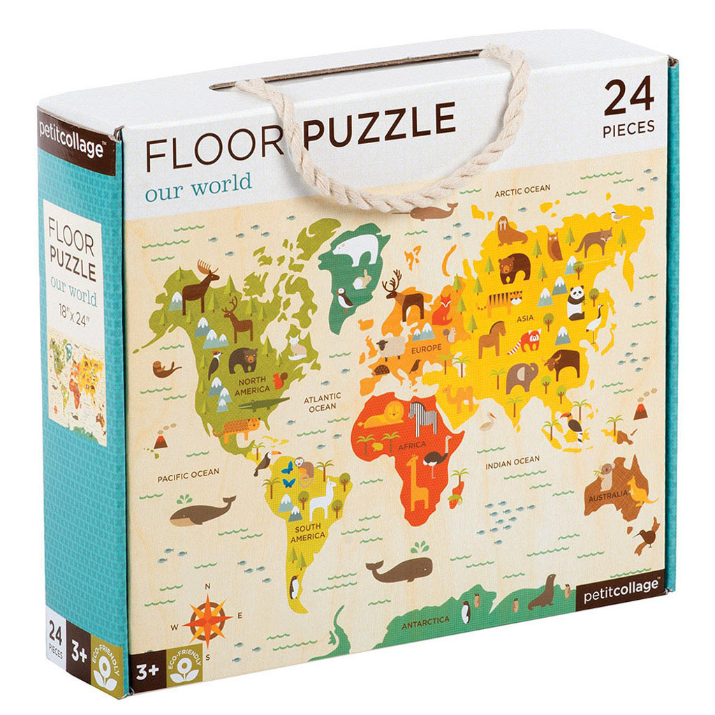 Wild & Wolf Floor Puzzle - Our World