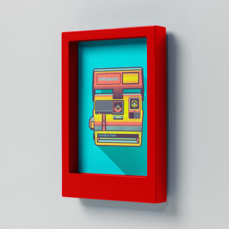 Wild & Wolf Polaroid Desk Frame 5X7 - Red
