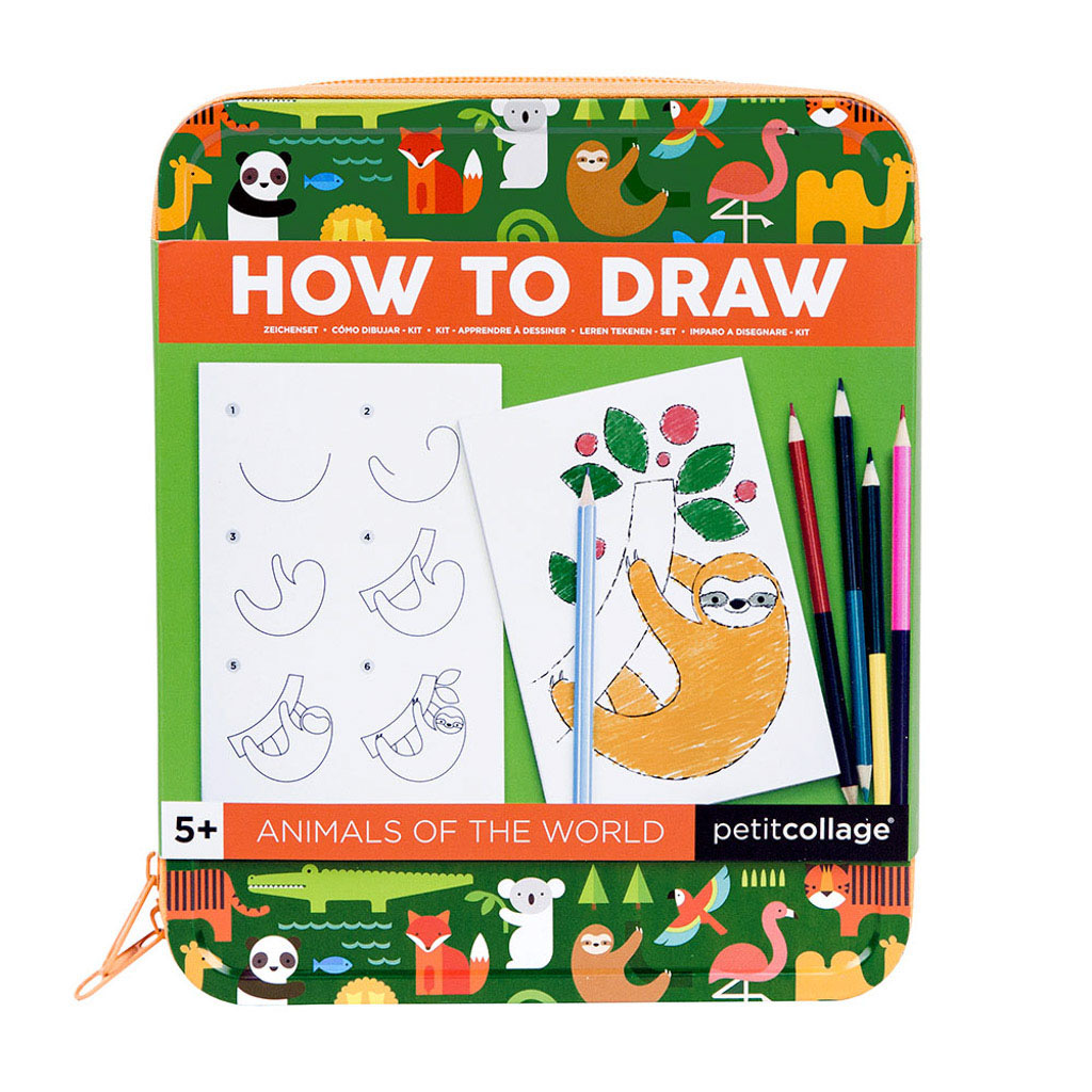 Wild & Wolf How to Draw - Animals of the World