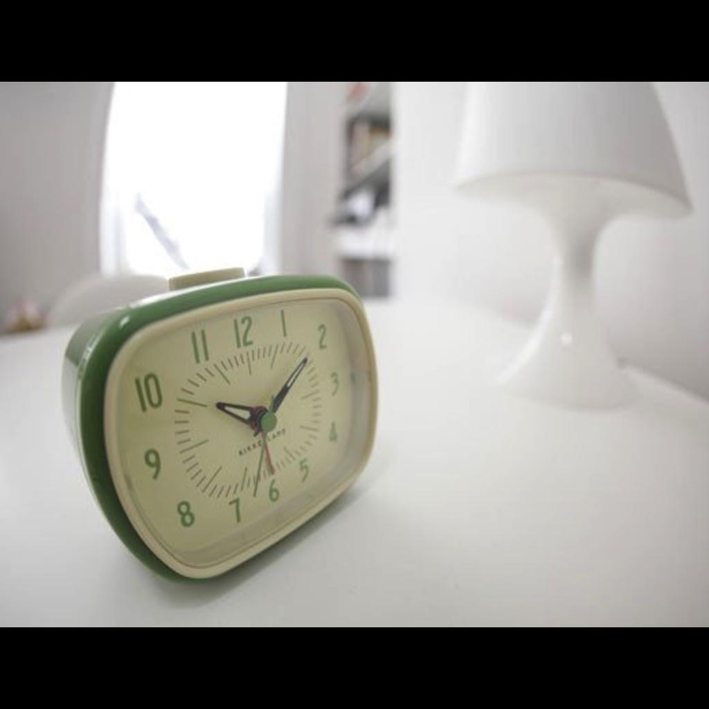 Kikkerland Retro Alarm Clock Green