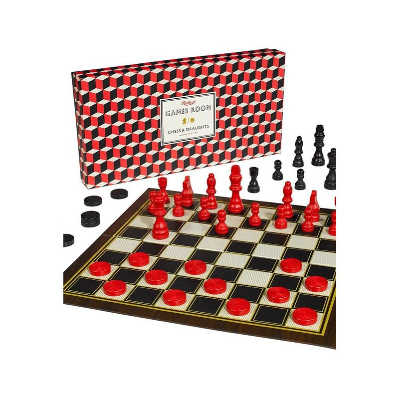 Wild & Wolf Games Room; Chess And Checkers Set