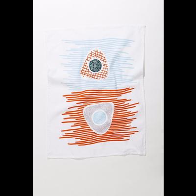 Mezzaluna Beach Triangles Tea Towel