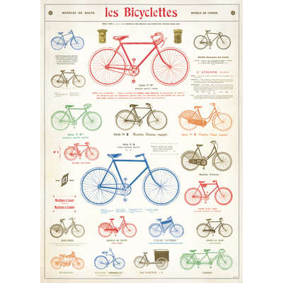 Cavallini Les Bicyclettes Wrap Sheet