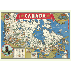Cavallini Canada Map Wrap Sheet