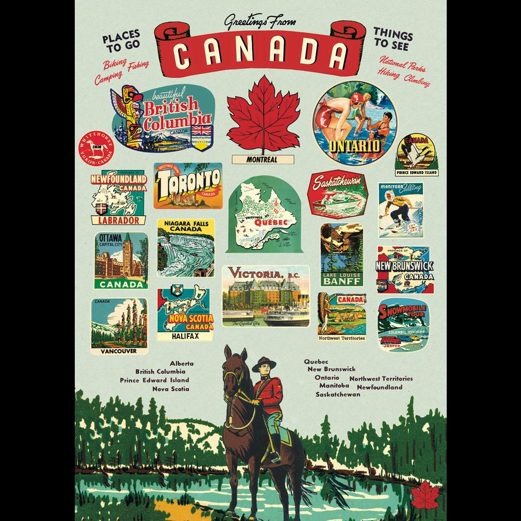 Cavallini Canada Wrap Sheet