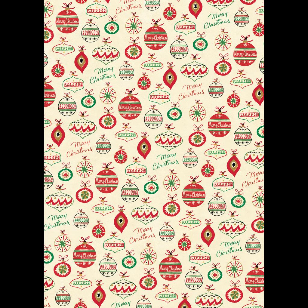 Cavallini Vintage Ornaments Wrap Sheet