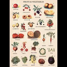 Cavallini Fruit & Vegetables Wrap Sheet