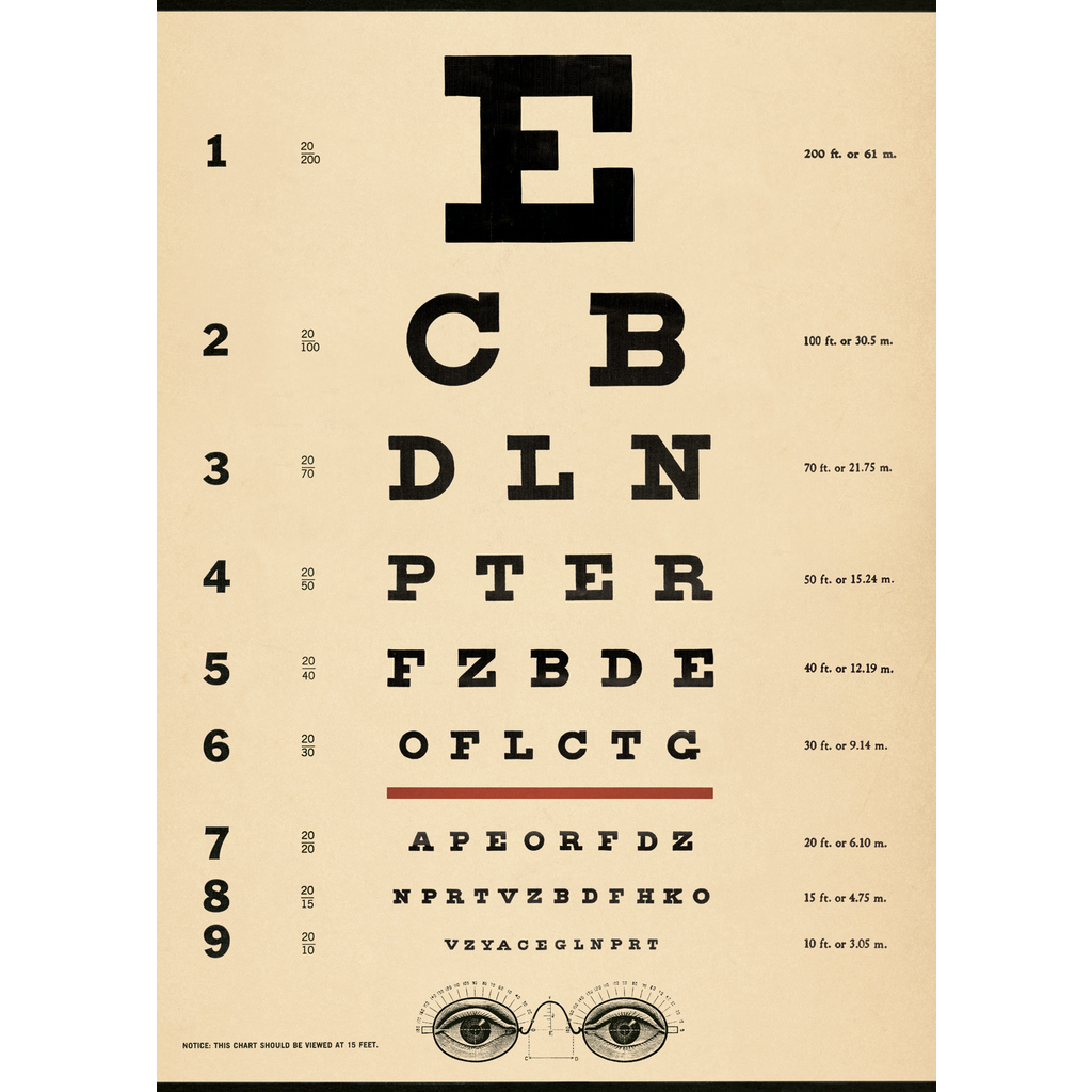 Cavallini Eye Chart Wrap Sheet