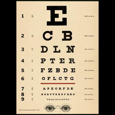Cavallini Eye Chart Wrap Sheet