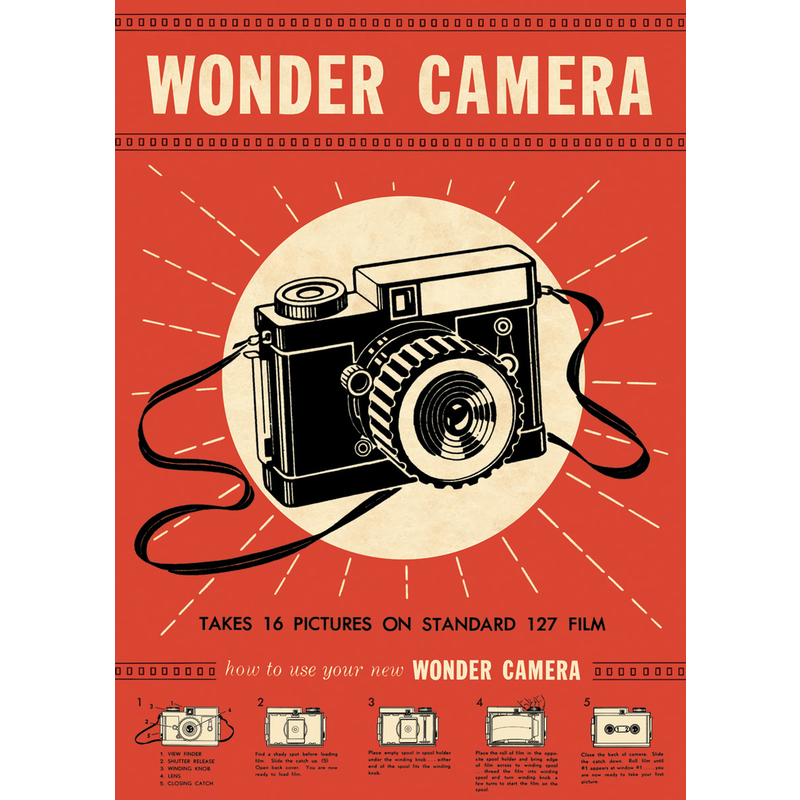 Cavallini Wonder Camera Wrap Sheet